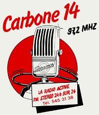 Logo radios libres Carbone 14 années 80