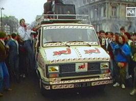 Manifestation NRJ radios commerciales 1984