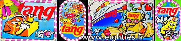 autocollants boisson poudre Tang Orange des années 80