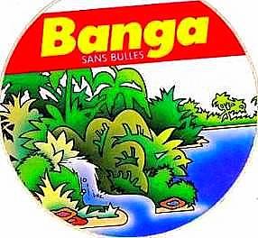 autocollant Banga boisson orange jus de fruit des années 80
