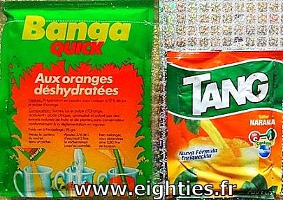 Banga quick sachet de boisson en poudre tang orange années 80