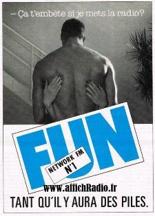 Publicité radio libre Fun Radio années 80