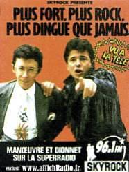 Publicité Skyrock Manoeuvre Dionnet années 80