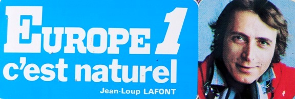 Autocollant Europe 1 Jean Loup Lafont