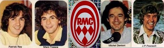 Banderole animateurs RMC Patrick Roy Marc Toesca Michel Denisot Foucault