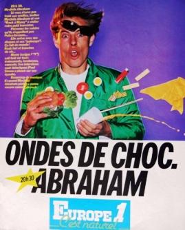 Publicité papier Europe 1 Ondes de choc années 80