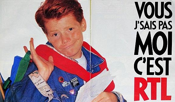 Publicité presse RTL années 80