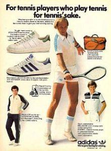 Ancienne publicité tennis Adidas années 70