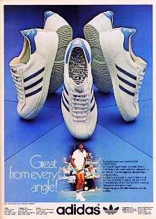 Ancienne publicité Baskets Adidas années 80