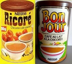 Café chicorée Bonjour Ricoré boites des années 80