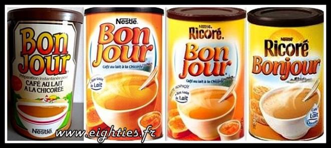 Café chicorée Bonjour boites mentions Ricoré