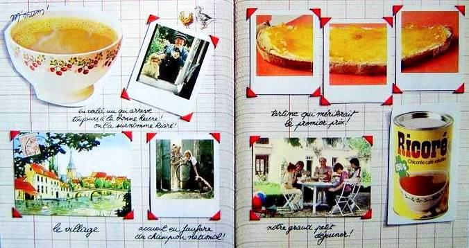 Café chicorée Ricoré PUB des années 80