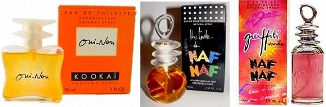 Parfum Oui-non de Kookaï et parfums Naf Naf années 90
