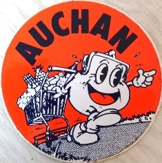 Autocollant Auchan années 70 80