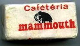 Sucre caféteria Mammouth années 80