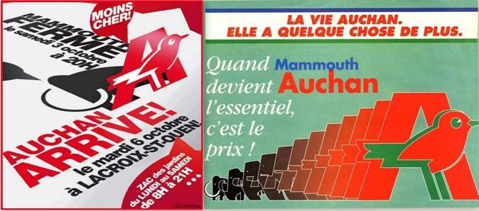 supermarché Mammouth hypermarché auchan des années 80