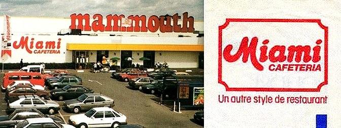 supermarché Mammouth hypermarché cafétéria Miami des années 80