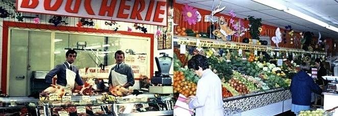 Rayon Boucherie supermarché des années 80