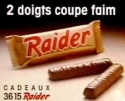 raider chocolat années 80