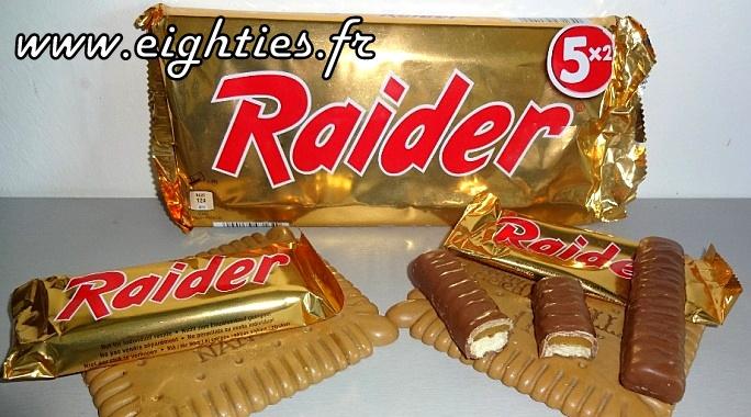 Raider chocolat des années 80 ancien Twix 2 doigts coupe faim