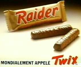 Raider Twix années 80