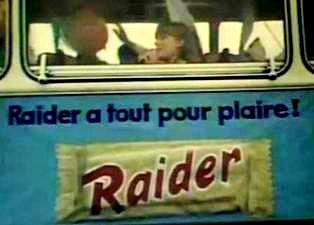 Pub Raider chocolat années 70 ancien Twix
