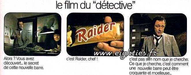 pub Raider chocolat années 80 ancien Twix
