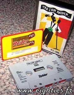 CASSETTE RAIDER CHOCOLAT DES années 80