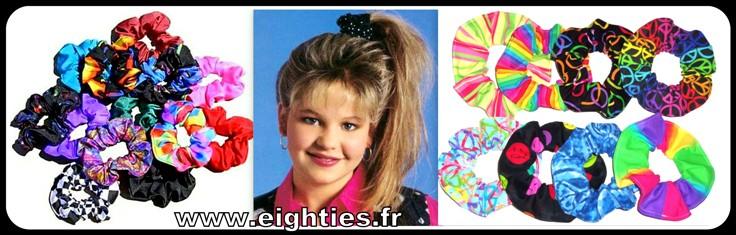 chouchous accessoires des coiffure à la mode des années 90