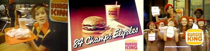 restaurant Burger King hamburgers années 80 fast-food