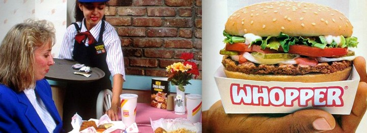 restaurant burger king hamburgers années 80 fast-food whopper