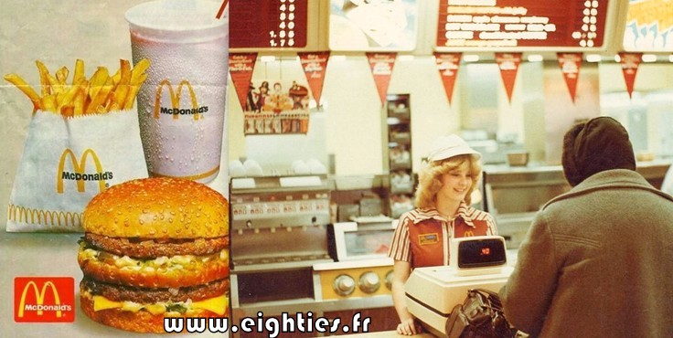 restaurant Mc Donald hamburgers années 80 fast-food
