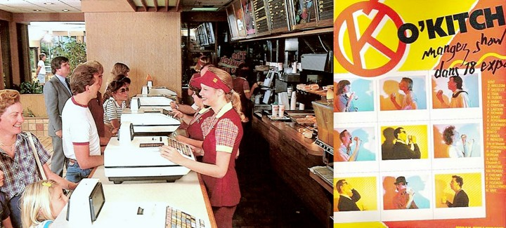 restaurant O'kitch hamburgers Paris années 80 fast-food