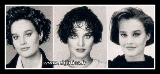 coiffure des années 80 Mode et coupe de cheveux au look eighties