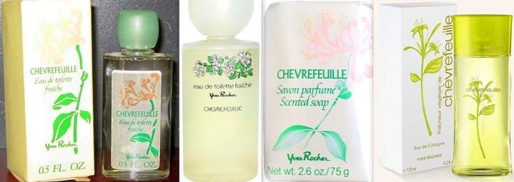 Parfum et eau de toilette chèvrefeuille Yves Rocher années 70