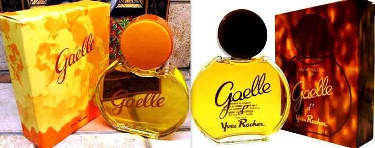 Parfum et eau de toilette Gaëlle Yves Rocher vintage années 70