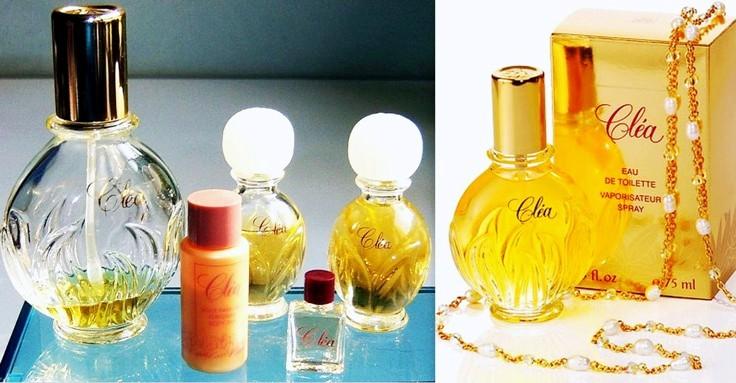 Parfum et eau de toilette Cléa Yves Rocher années 80