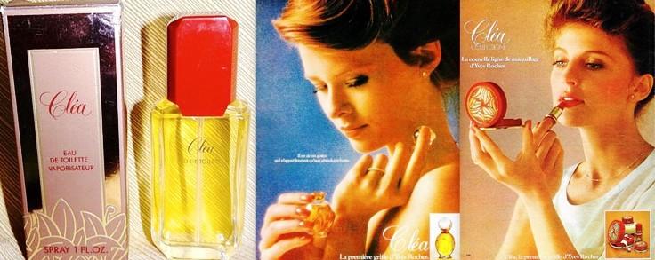Publicité Parfums Yves Rocher années 80 vintage
