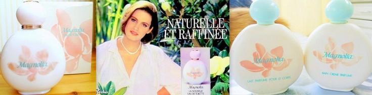 Parfum et eau de toilette Magnolia Yves Rocher années 80