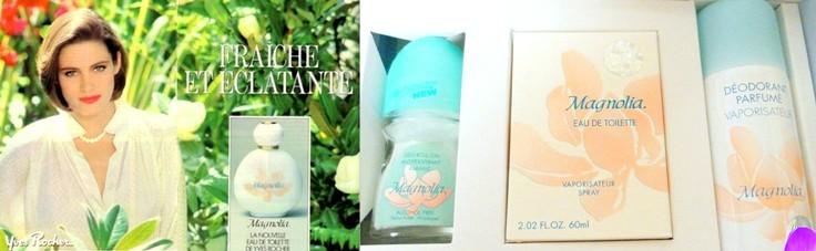publicité Parfum et eau de toilette Magnolia Yves Rocher années 80
