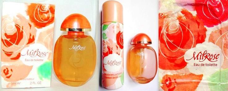 Parfum et eau de toilette Milrose Yves Rocher années 80 vintage