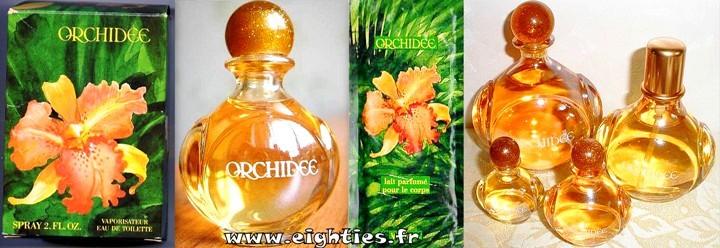 Parfum et eau de toilette Orchidée Yves Rocher années 80 vintage
