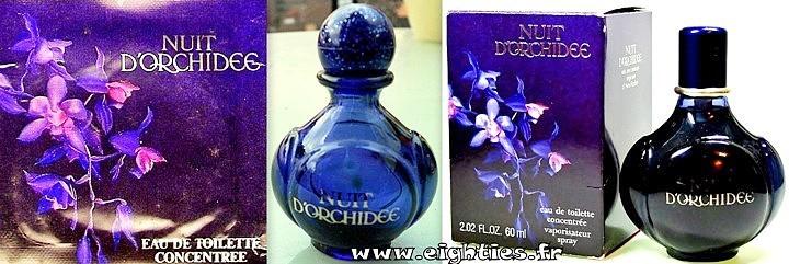 Parfum et eau de toilette Nuit d'orchidée Yves Rocher années 80
