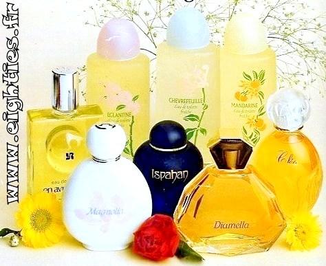 parfums et eaux de toilette Yves Rocher années 80