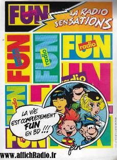 Publicité Fun Radio années 80
