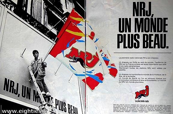 Publicité NRJ années 80 Radios libres