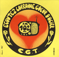 Autocollant radio pirate Lorraine coeur d'acier