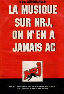 Publicité radios libres NRJ années 80
