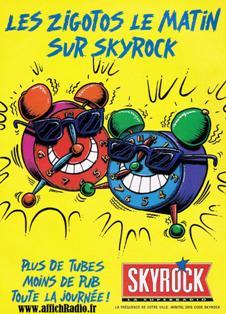 Publicité radios libres Skyrock années 80