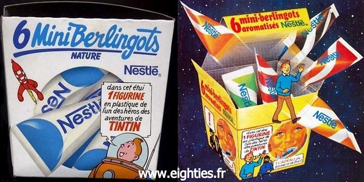 lait concentré sucré mini berlingots de Nestlé Boites vintage années 80